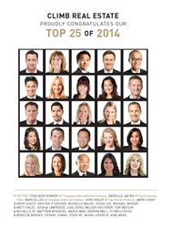 02a8c gI 148666 2014%2520top%252025%2520image Climb Real Estate Group Announces Top Producers for 2014