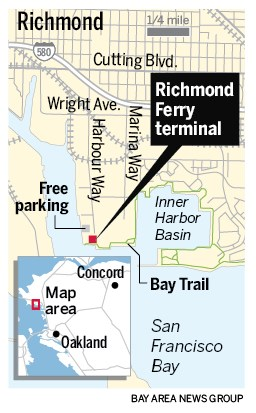 0759d EBT L RICHFERRY 0107 90 01 Richmond ferry to SF begins Thursday, ushering new era for water travel in the Bay Area