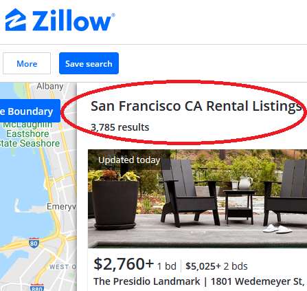 81375 US san francisco housing zillow listings for rent 2020 10 07 Condo Boom Turns to Historic Condo Glut in San Francisco