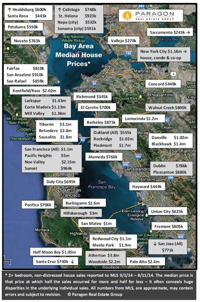 aa0f4 8 14 Map Bay Area Median House Price Heres what it costs to buy a house around the Bay Area