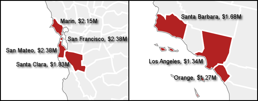 aac74 combine images State of Luxury: California Dominates List of Counties With Most Expensive Real Estate