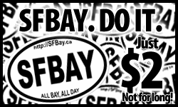 accbf sticker ad SF job, real estate markets booming