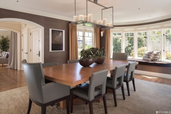 c97c6 diningroom 600x399 4 Bay Area Celebrities And Their Real Estate Deals in 2016