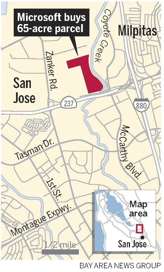 dc7a7 sjm microsoft 0930 web Exclusive: Microsoft buys north San Jose land, large complex eyed