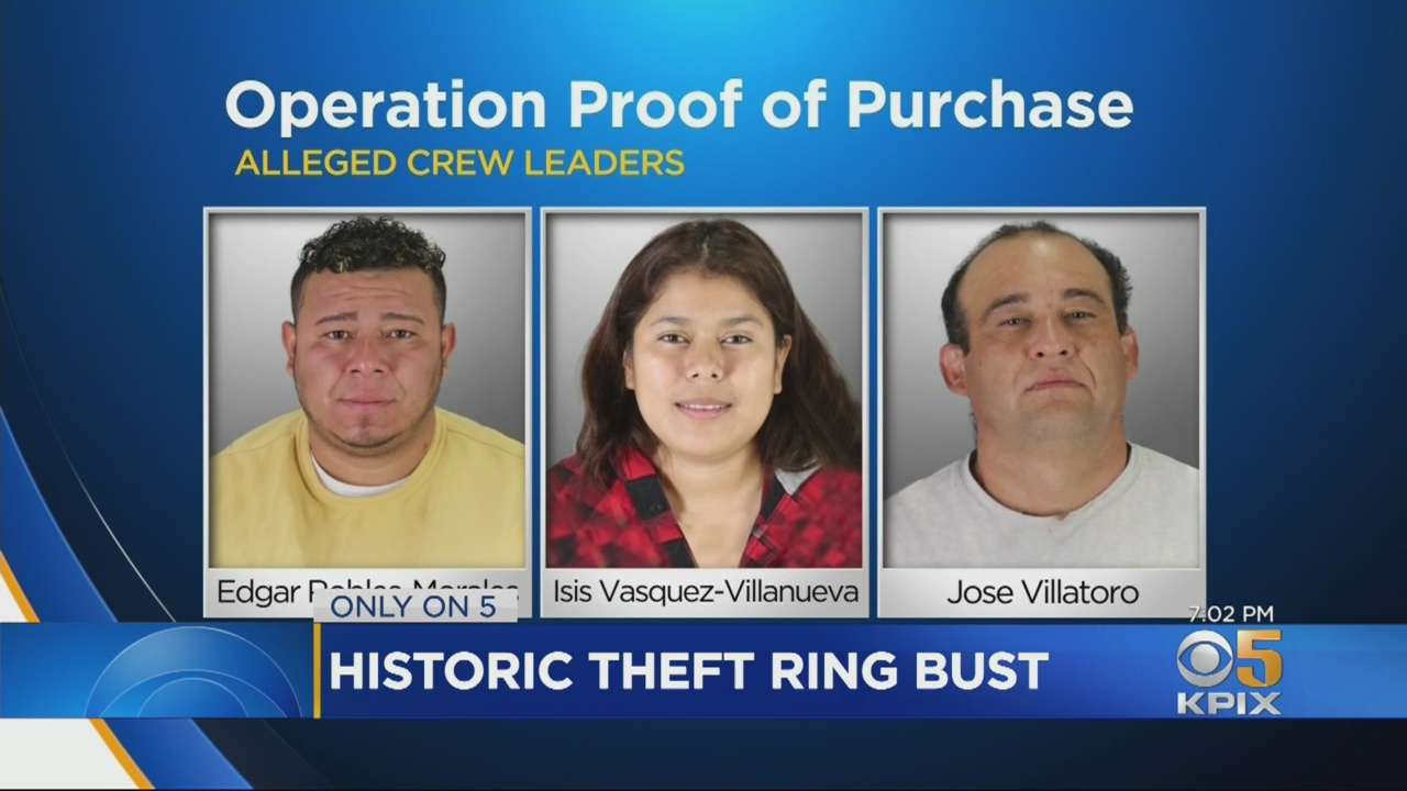 e0d7b theft ring 3 shot Major San Francisco Bay Area Retail Theft Ring Busted; Five Suspects Arrested; $8 Million In Stolen Merchandise Recovered
