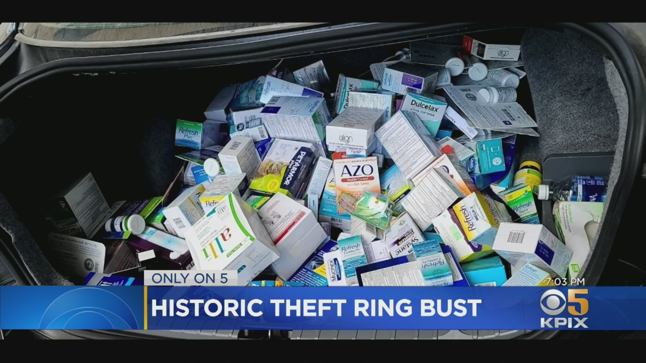 e4442 theft ring bust trunk Major San Francisco Bay Area Retail Theft Ring Busted; Five Suspects Arrested; $8 Million In Stolen Merchandise Recovered